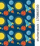 space seamless pattern design.... | Shutterstock .eps vector #170883530