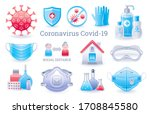 corona virus protection icon... | Shutterstock .eps vector #1708845580