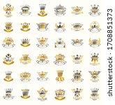 crowns vintage heraldic emblems ... | Shutterstock .eps vector #1708851373