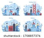 welder and welding service... | Shutterstock .eps vector #1708857376