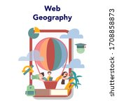 geography online education... | Shutterstock .eps vector #1708858873