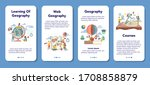 geography mobile application... | Shutterstock .eps vector #1708858879