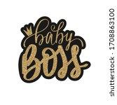 Baby Boss Vector Golden Glitter ...