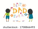card  banner design with cute... | Shutterstock .eps vector #1708866493