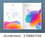 liquid abstract cover... | Shutterstock .eps vector #1708867246