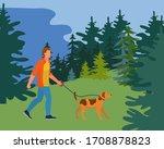 Person People Walk Dog On Wild...