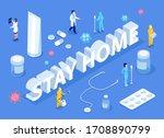 stay home motivational banner.... | Shutterstock .eps vector #1708890799