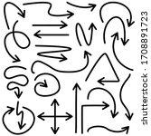 Set Of Arrow Vectors Drawn By...