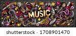 music hand drawn cartoon... | Shutterstock .eps vector #1708901470