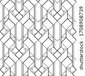 art deco pattern. black and... | Shutterstock .eps vector #1708908739