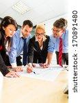business   four professionals... | Shutterstock . vector #170891480