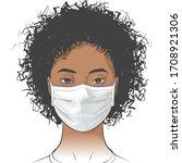 african american woman wearing...   Shutterstock .eps vector #1708921306