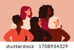 five women of different... | Shutterstock .eps vector #1708934329