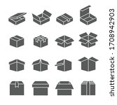 boxes icon set    packaging... | Shutterstock .eps vector #1708942903