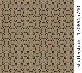 golden linear simple seamless... | Shutterstock .eps vector #1708955740