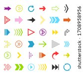 vector motion arrows icon. flat ...