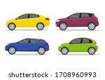 flat car in side view  cartoon... | Shutterstock .eps vector #1708960993