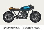 colorful motorcycle side view...   Shutterstock .eps vector #1708967503