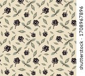 pattern autumn beige... | Shutterstock . vector #1708967896