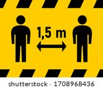 social distancing keep your... | Shutterstock .eps vector #1708968436