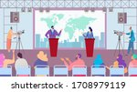 debate of political party... | Shutterstock .eps vector #1708979119