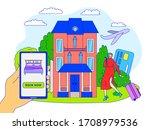 hotel online booking concept ... | Shutterstock .eps vector #1708979536