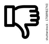 dislike icon vector image. can...