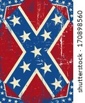 confederate grunge background.... | Shutterstock .eps vector #170898560