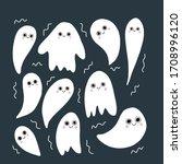vector ghost illustration. ... | Shutterstock .eps vector #1708996120