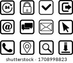 web icons on white background   Shutterstock .eps vector #1708998823