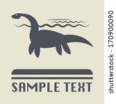 Stock vector dinosaur icon or sign vector illustration 170900090