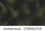 black futuristic neon pattern... | Shutterstock .eps vector #1709002723