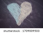 Colorful Heart Chalk Drawing ...