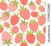 strawberry seamless vector... | Shutterstock .eps vector #1709012080