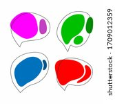 collection of speech bubbles... | Shutterstock .eps vector #1709012359
