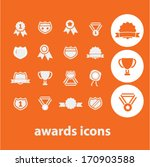awards icons  signs set  vector   Shutterstock .eps vector #170903588