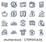 set of financial icon vector... | Shutterstock .eps vector #1709041636