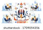 startup rocket launch creative... | Shutterstock .eps vector #1709054356
