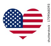 Heart With The Flag Of America...