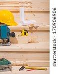 set of working tools on seteps... | Shutterstock . vector #170906906