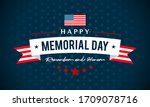 usa memorial day   remember and ... | Shutterstock .eps vector #1709078716