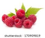 Sweet Raspberry Isolated On...