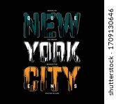 new york city text frame...   Shutterstock .eps vector #1709130646