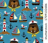 Seamless Pattern Vector Of Sail ...