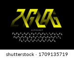 zigzag style modern font ... | Shutterstock .eps vector #1709135719