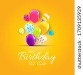 abstract happy birthday... | Shutterstock .eps vector #1709135929