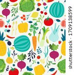 vector seamless pattern with... | Shutterstock .eps vector #1709138599