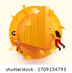 people flying around growth... | Shutterstock .eps vector #1709154793