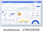 web dashboard  great design for ... | Shutterstock .eps vector #1709155459