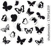 Stock vector butterflies design 170916359